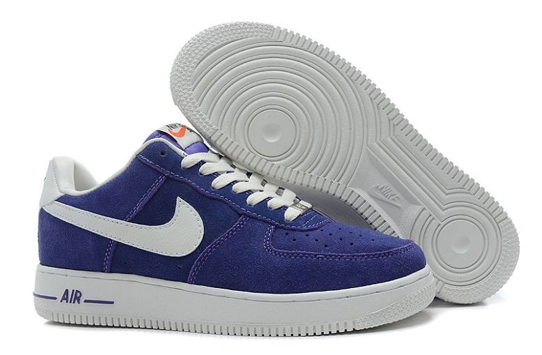 Nike Air Force 1 Low Suede Mens Shoes Hyper Blue Voilet