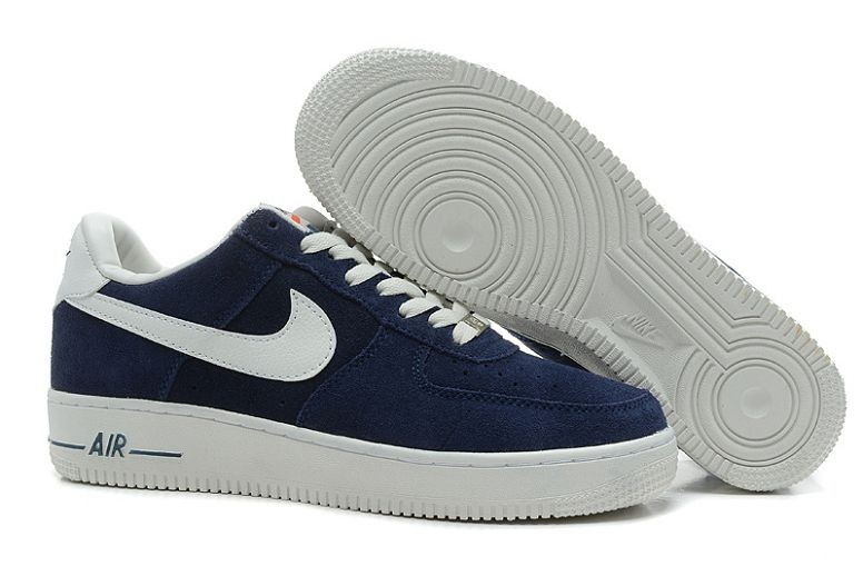 Nike Air Force 1 Low Suede Mens Shoes Navy White
