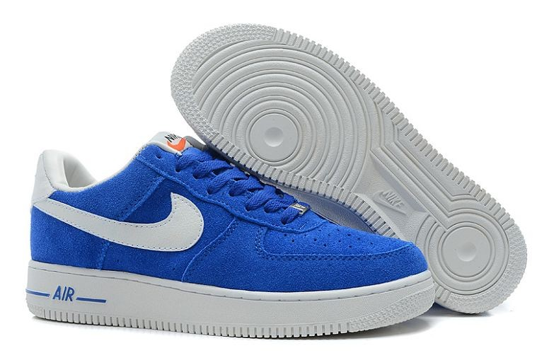 Nike Air Force 1 Low Suede Mens Shoes University Blue White