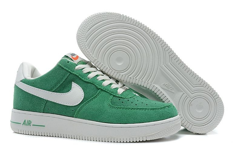 Nike Air Force 1 Low Suede Mens Shoes Vert Voilet White