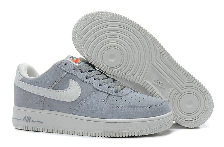 Nike Air Force 1 Low Suede Mens Shoes Wolf Grey Voilet