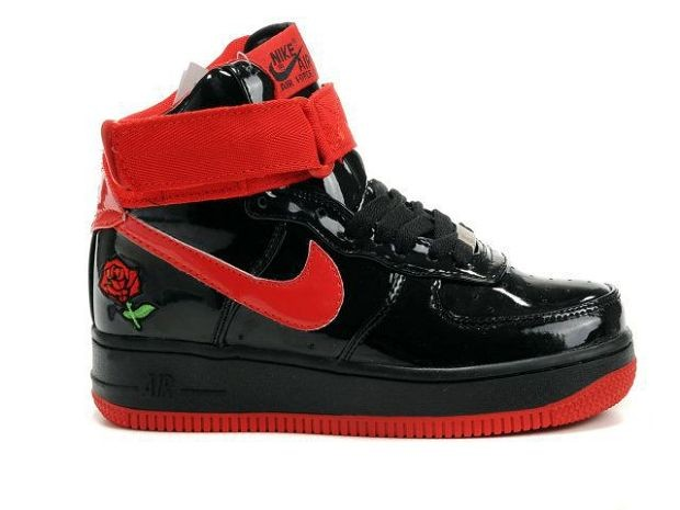 Nike Air Force 1 Mid 07 Women\'s Shoe Black Rose Red