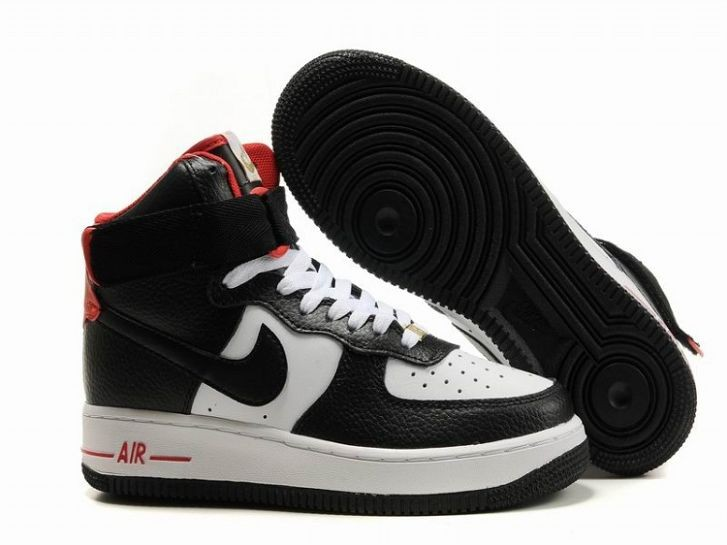 Nike Air Force 1 Mid 07 Women's Shoe Black White Red