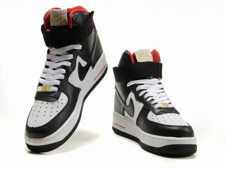 Nike Air Force 1 Mid 07 Women\'s Shoe Black White Red