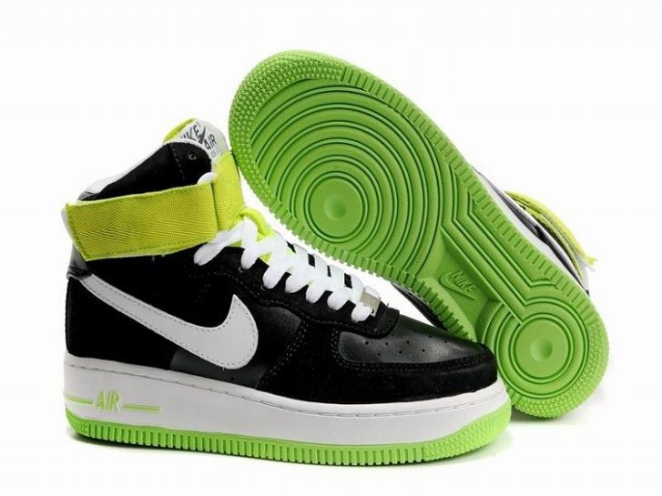 Nike Air Force 1 Mid 07 Women's Shoe Black White Volt