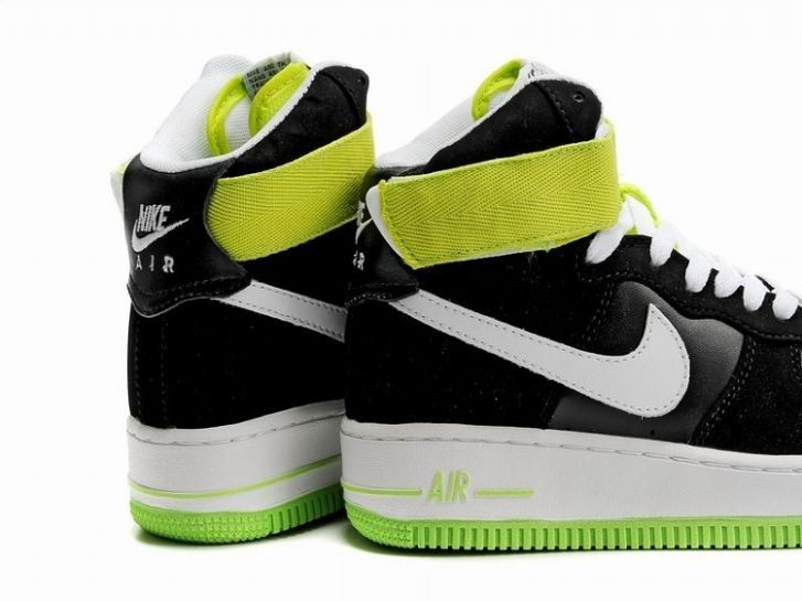 Nike Air Force 1 Mid 07 Women\'s Shoe Black White Volt