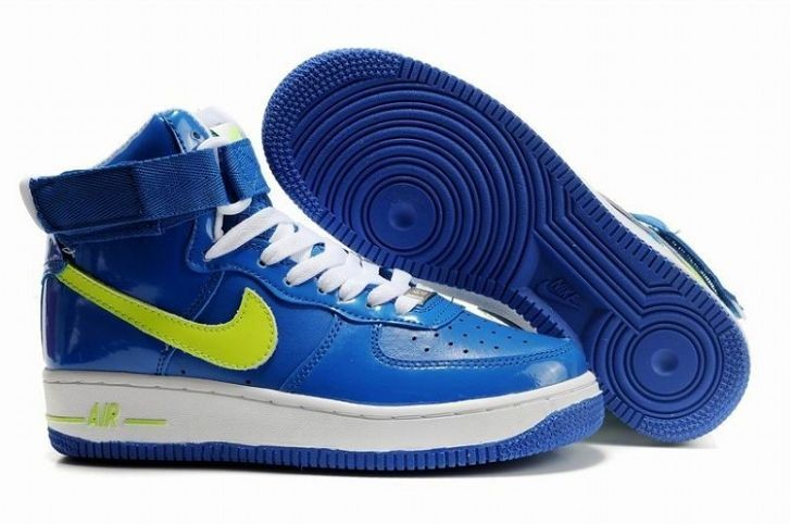 Nike Air Force 1 Mid 07 Women's Shoe Royal Blue Volt White