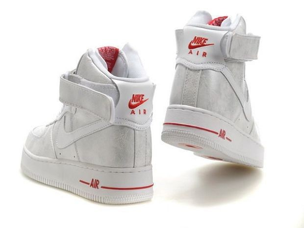 Nike Air Force 1 Mid 07 Women\'s Shoe White Sliver Red