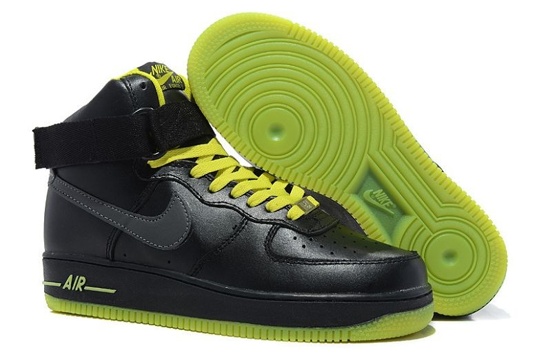 Nike Air Force 1 Mid Mens Trainers Black Volt