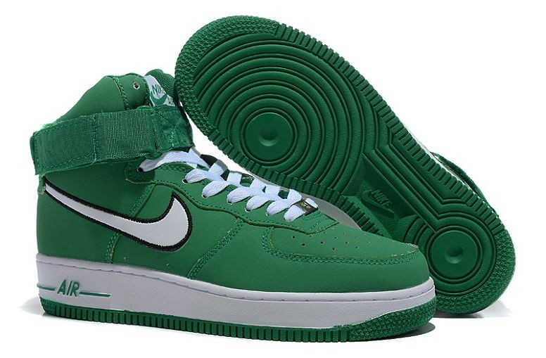 Nike Air Force 1 Mid Mens Trainers Green White