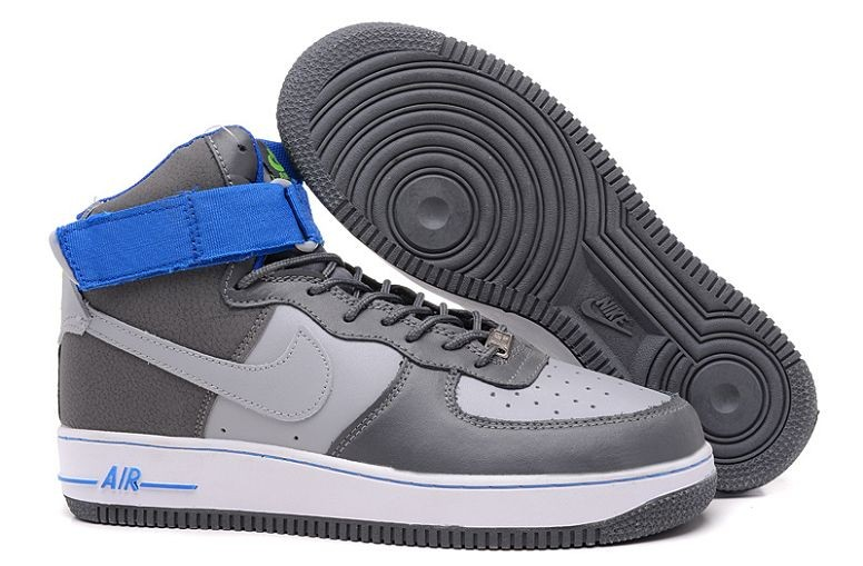 Nike Air Force 1 Mid Mens Trainers Grey Blue White