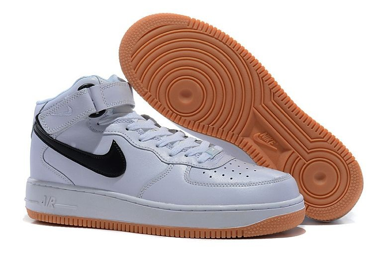 Nike Air Force 1 Mid Mens Trainers White Black