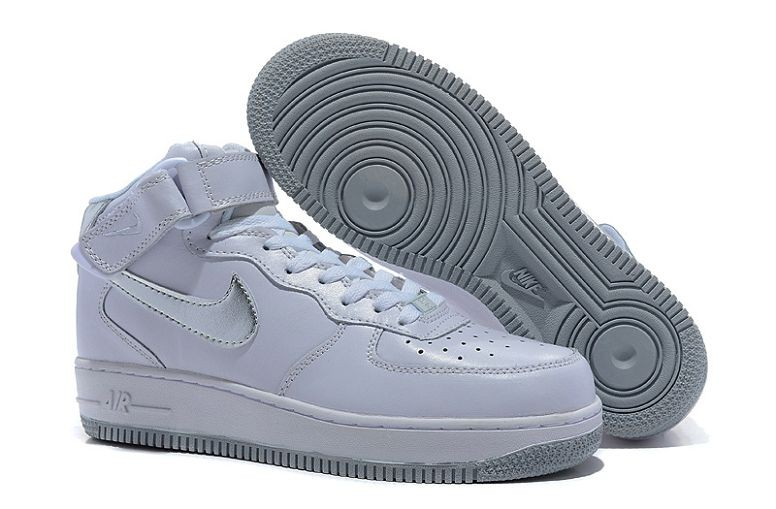 Nike Air Force 1 Mid Mens Trainers White Sliver