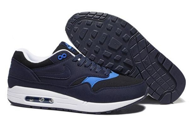 Nike Air Max 1 Essential Mens Trainers Obsidian Hyper Blue White