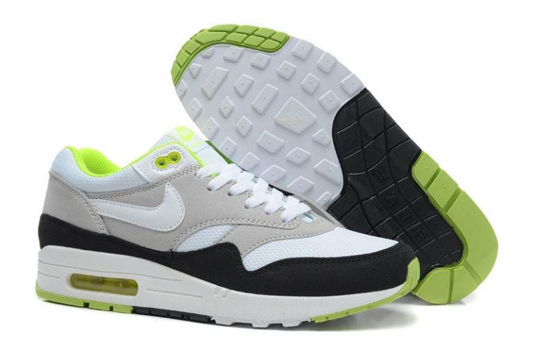Nike Air Max 1 Essential Mens Trainers Sport Grey White Black Volt
