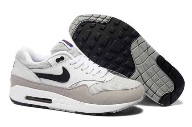 Nike Air Max 1 Essential Mens Trainers White Grey Black