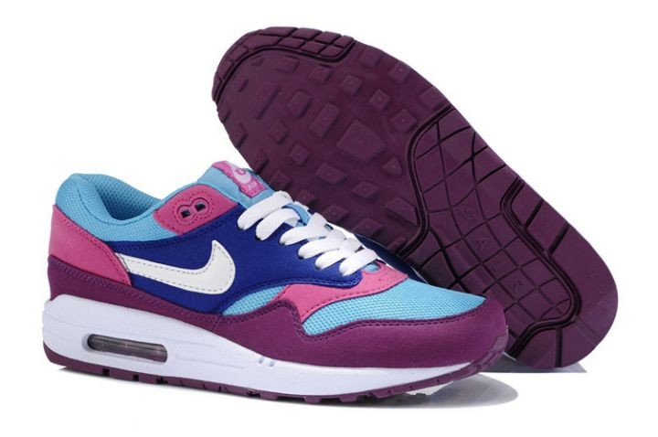 Nike Air Max 1 Essential Women's Shoe Blue Pink Purple