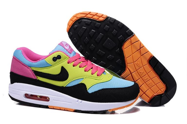 Nike Air Max 1 Essential Women's Shoe Sky Blue Volt Black Pink
