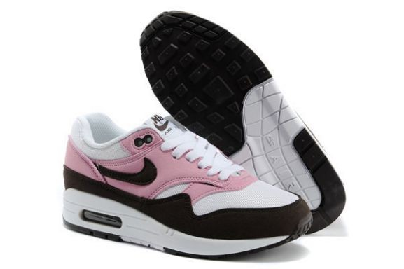 Nike Air Max 1 Essential Women's Shoe White Pink Old Brown