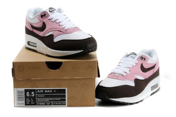 Nike Air Max 1 Essential Women\'s Shoe White Pink Old Brown