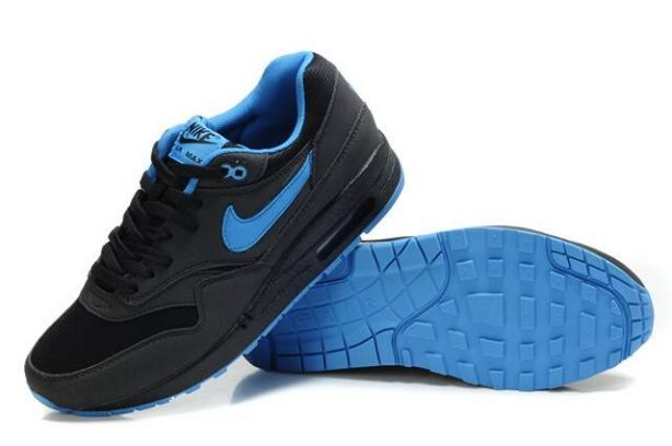 Nike Air Max 1 Mens Trainers Anthracite Black University Blue