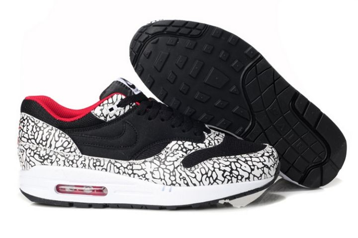 Nike Air Max 1 Mens Trainers Atmos Animal Camo Black Leopard White Red
