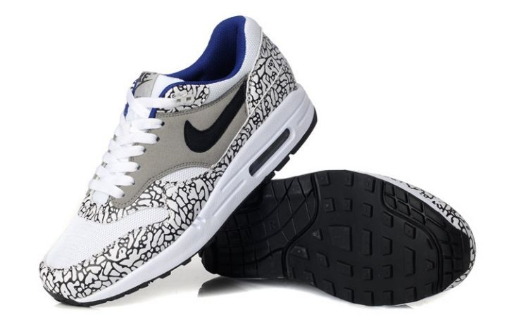 Nike Air Max 1 Mens Trainers Atmos Animal Camo Grey Leopard White Black