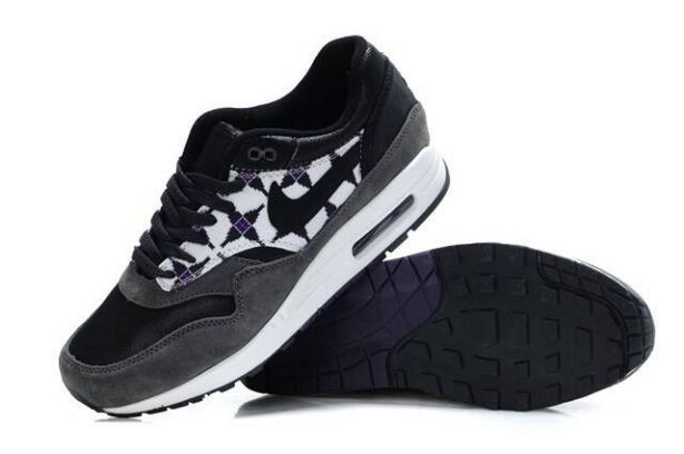 "Nike Air Max 1 Mens Trainers ""Aztec"" Black White Purple"