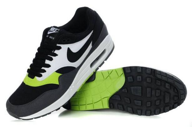 Nike Air Max 1 Mens Trainers Black Anthracite Volt White
