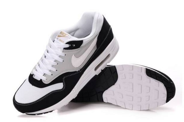Nike Air Max 1 Mens Trainers Black White Grey