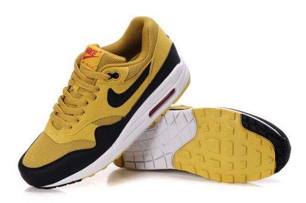 Nike Air Max 1 Mens Trainers Canyon Gold Black White