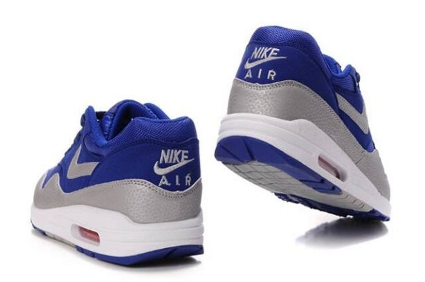 Nike Air Max 1 Mens Trainers Deep Royal Silver White