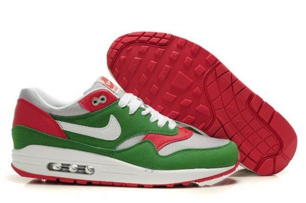 Nike Air Max 1 Mens Trainers Lucky Green White Red