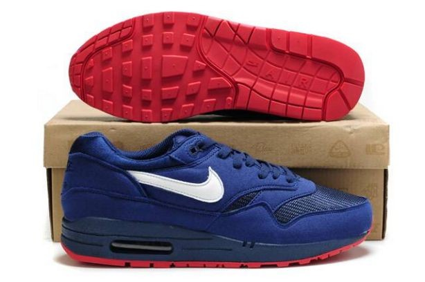 Nike Air Max 1 Mens Trainers Navy White University Red