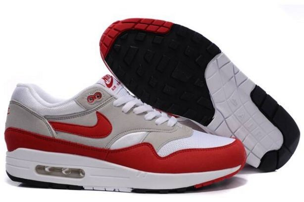 Nike Air Max 1 Mens Trainers OG White Red