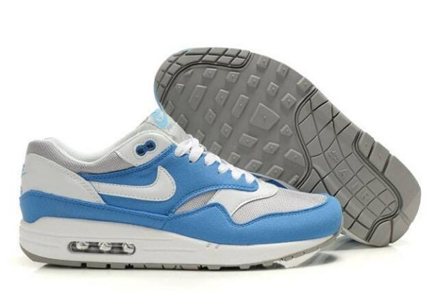 Nike Air Max 1 Mens Trainers Photo Blue White