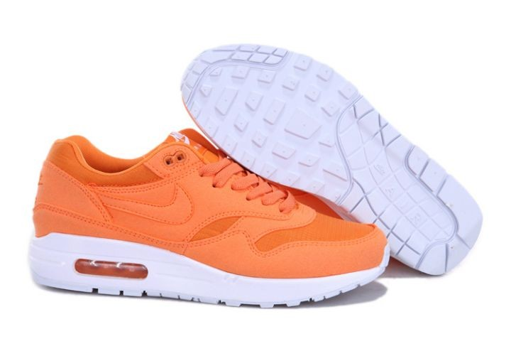 "Nike Air Max 1 Mens Trainers ""Ripstop Brights"" Orange White"