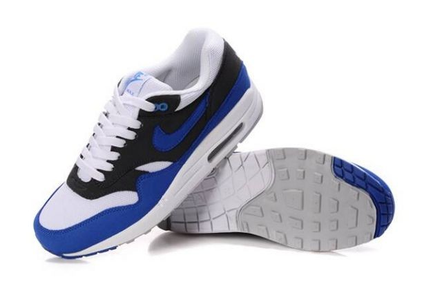 Nike Air Max 1 Mens Trainers White Signal Blue Anthracite