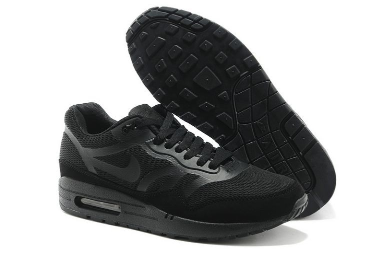 Nike Air Max 1 Premium Tape Men's Running Shoes Blackout