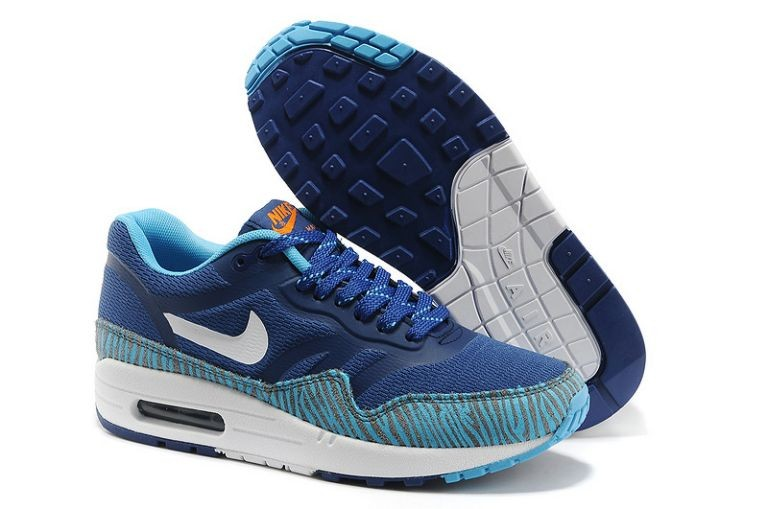Nike Air Max 1 Premium Tape Men's Running Shoes Blue Black Summit White