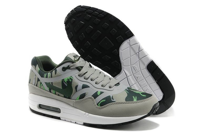 Nike Air Max 1 Premium Tape Men's Running Shoes Mortar Vintage Green Mountain Grey White
