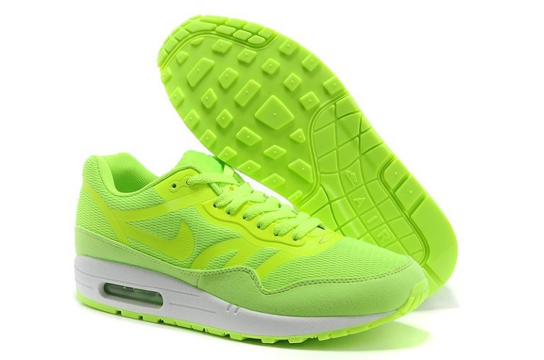Nike Air Max 1 Premium Tape Men's Running Shoes Volt