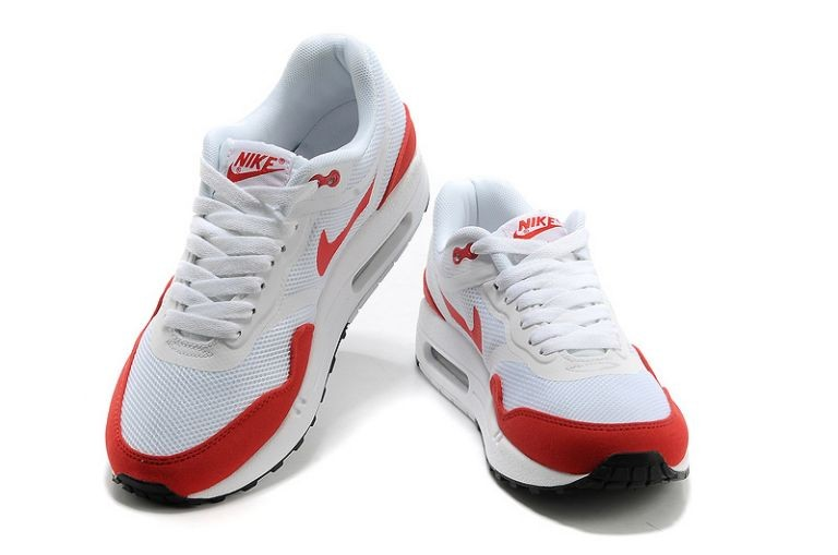 Nike Air Max 1 Premium Tape Women\'s Running Shoes OG Red