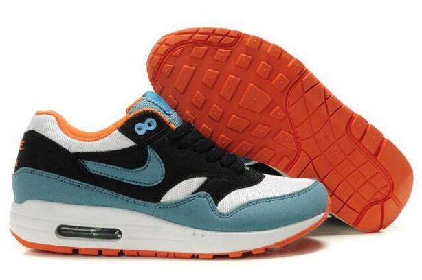 Nike Air Max 1 Womens Trainers Black White Fresh Water Orange
