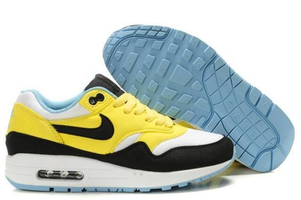 Nike Air Max 1 Womens Trainers Citron White Turquoise