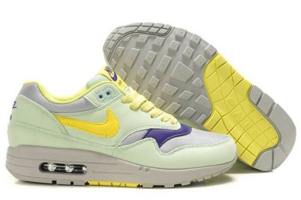Nike Air Max 1 Womens Trainers Filament Green Lemon