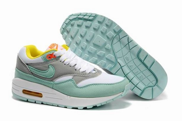 Nike Air Max 1 Womens Trainers Julep White Grey