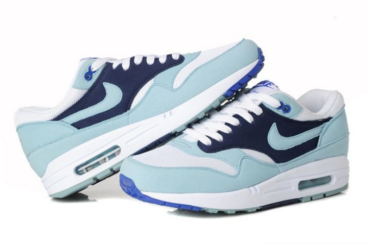 Nike Air Max 1 Womens Trainers Light Jade Blue White