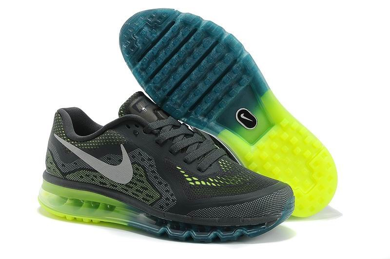Nike Air Max 2014 Mens Running Shoes Anthracite Fluorescence Green