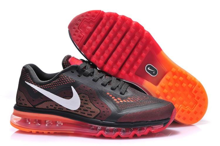 Nike Air Max 2014 Mens Running Shoes Anthracite White Crimson Atomic Orange